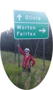 olivia road sign