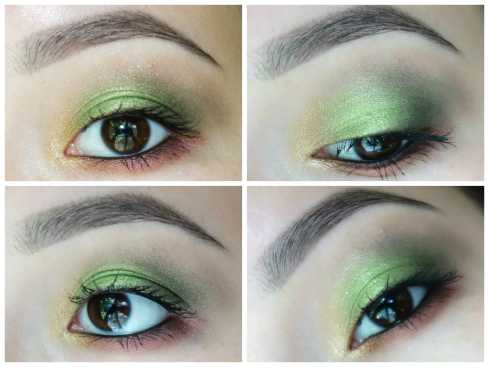 green red collage